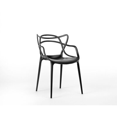 Burkhart Dining Chair Color: Black