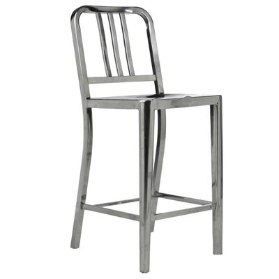 Falcone 39 Bar Stool Color: Polished Stainless steel
