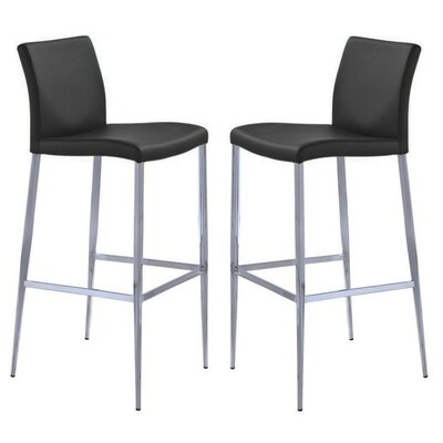 Raven 26 Bar Stool Color: Black