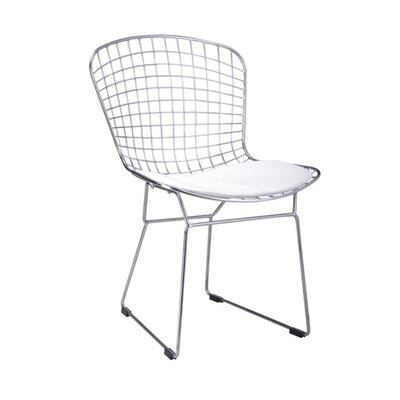 Pointer Wire Dining Chair Color: White