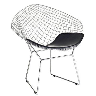 Polen Diamond Papasan Chair Finish: Silver