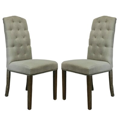 Lorinda Classic Upholstered Dining Chair Upholstery Color: Beige