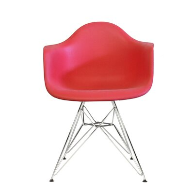 Polaris Dining Chair Color: Red