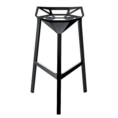 Roderick 30 Bar Stool Color: Black, Set Of: Set of 1