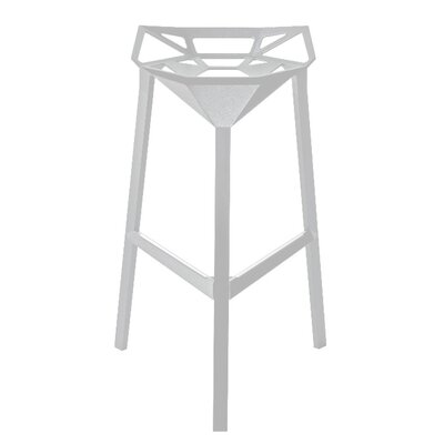 Roderick 30 Bar Stool Color: White, Set Of: Set of 1