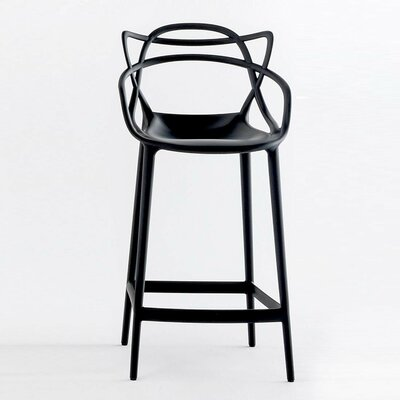 Burkhart 26 Bar Stool Color: Black
