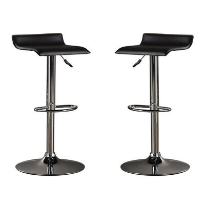 Park Avenue Adjustable Height Bar Stool Color: Black