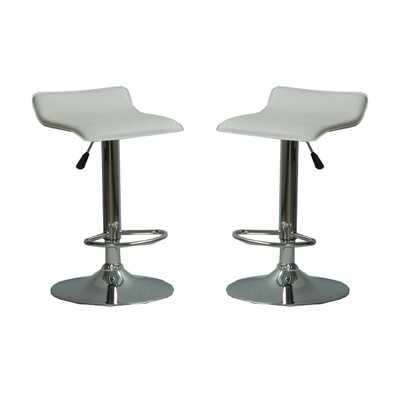 Park Avenue Adjustable Height Bar Stool Color: White