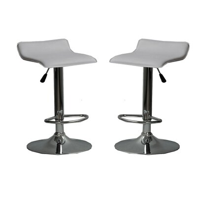Park Avenue Adjustable Height Bar Stool Color: Gray