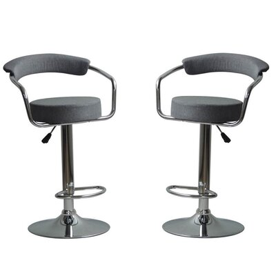 Park Place Modern Adjustable Height Bar Stool Color: Gray