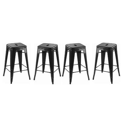 Orozco Modern 26 Bar Stool Color: Black
