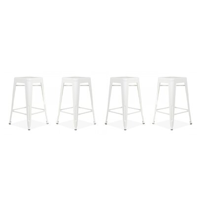 Orozco Modern 26 Bar Stool Color: White