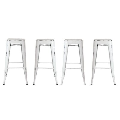Orozco 26 Bar Stool Color: White