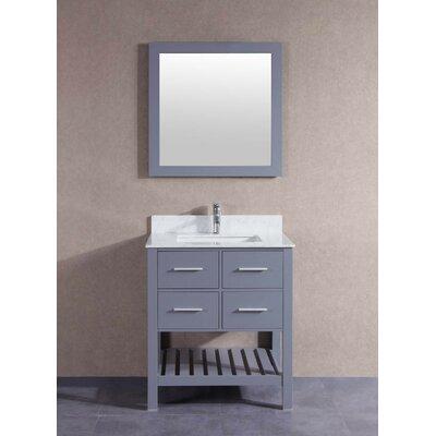 30 Single Bathroom Vanity Set Base Finish: Gray