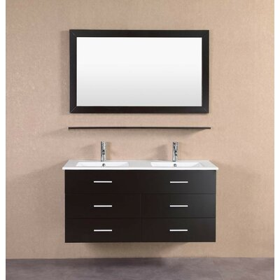 48 Double Bathroom Vanity Set Base Finish: Espresso