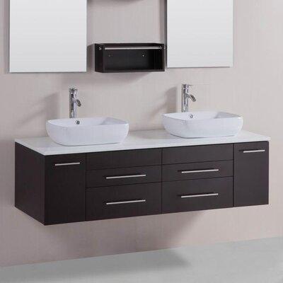 60 Double Modern Bathroom Vanity Set