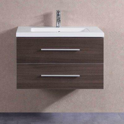 32 Single Bathroom Vanity Set Base Finish: Brown