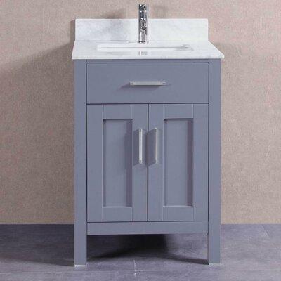 24 Single Bathroom Vanity Set Base Finish: Gray