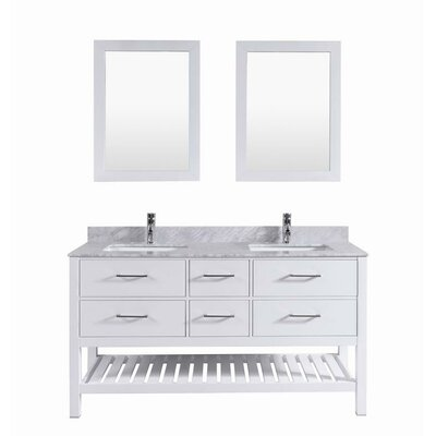 Signature Series 60 Double Bathroom Vanity Set