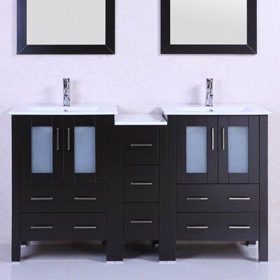 Modern 60 Double Bathroom Vanity Set