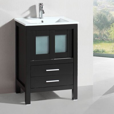 Modern Freestanding 24 Single Bathroom Vanity Set