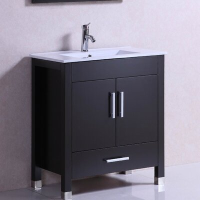 Modern Freestanding 30 Single Bathroom Vanity Set