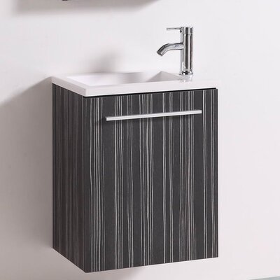 Signature Series Wall Mounted 20 Single Bathroom Vanity Set