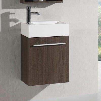 Signature Series Wall Mounted 18 Single Bathroom Vanity Set