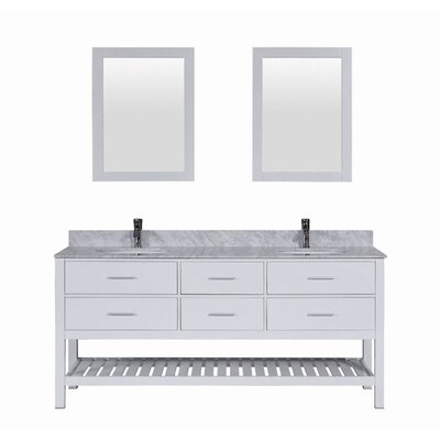 Signature Series 72 Double Bathroom Vanity Set