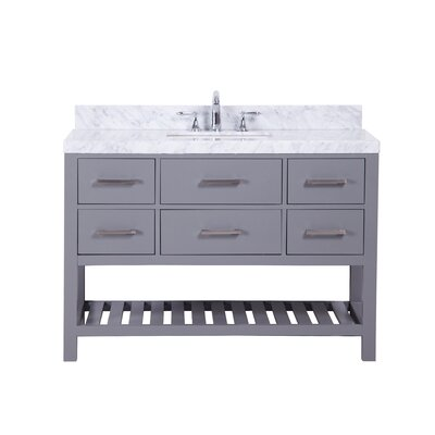 Craftsbury Freestanding 48 Single Bathroom Vanity Set Base Finish: Gray