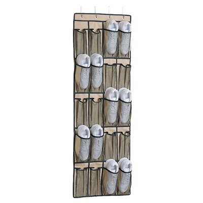 Wheat 20-Pocket Overdoor Shoe Organizer