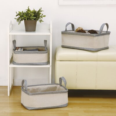 Fabric 3 Piece Cubes & Bins Set