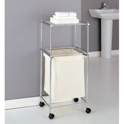 Metro Two Tier Laundry Cart in Chrome