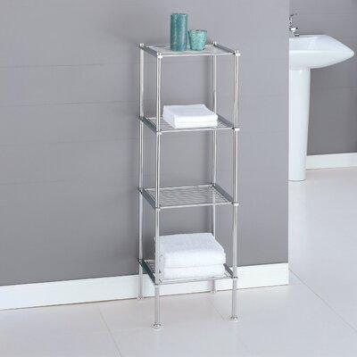 oia metro four tier etagere in chrome bathroom towel storage