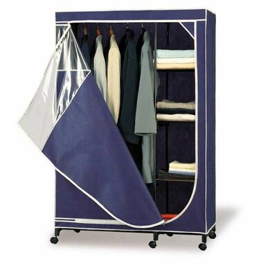 OIA Storage Wardrobe in Canvas with Tan Trim | Wayfair