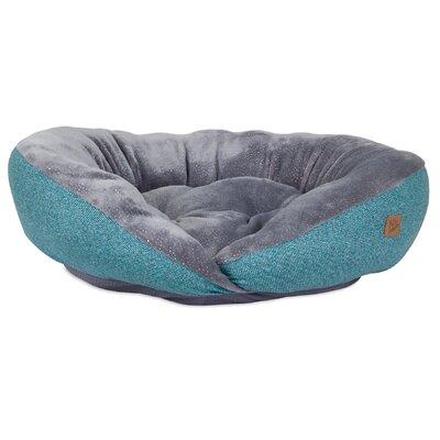 Plush Printed Lounger Bolster Dog Bed
