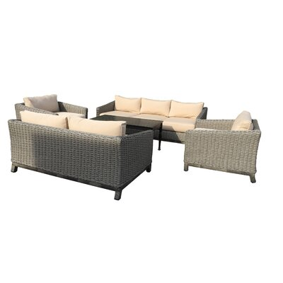 Dutil 5 Piece Deep Seating Group With Cushions