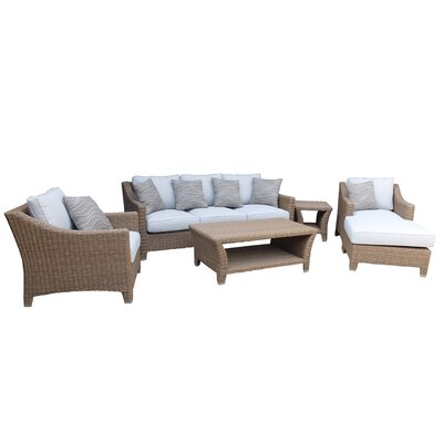 Galen 6 Piece Aluminum Framed Deep Seating Group with Cushion
