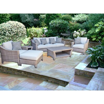 Galen 6 Piece Deep Seating Group with Cushion