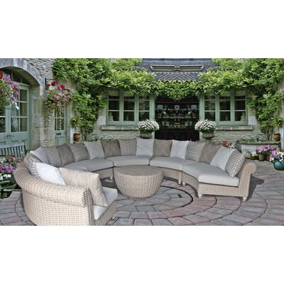 Wiggins Coastal 7 Piece Deep Seating Group with Cushion