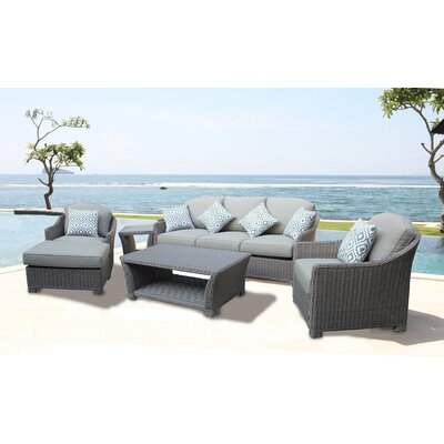 Grimes 5 Piece Deep Seating Group with Cushion