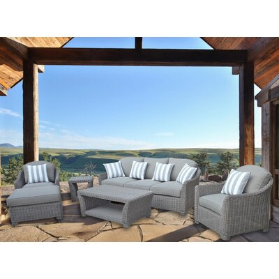 Grimes 6 Piece Deep Seating Group with Cushion