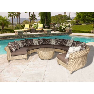 Wiggins 7 Piece Rattan Deep Seating Group with Cushion