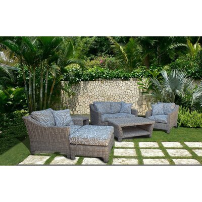 Galen Coastal 6 Piece Deep Seating Group with Cushion