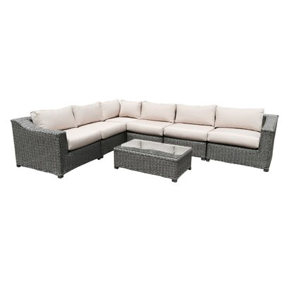 Dutil 7 Piece Sectional Seating Group with Cushions