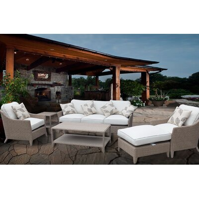 Nantucket Premium 6 Piece Deep Seating Group Set with Cushions Fabric: White