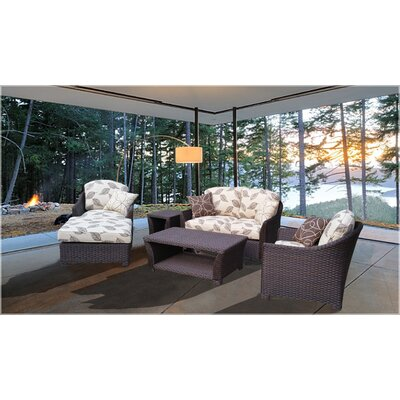 Grimes Modern 6 Piece Deep Seating Group with Cushion