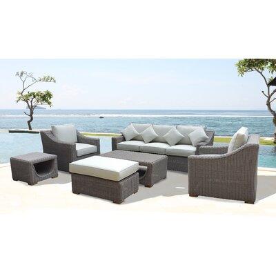 Brokaw 6 Piece Deep Seating Group with Cushion