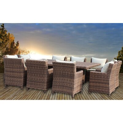 Dutil 11 Piece Dining Set with Cushion