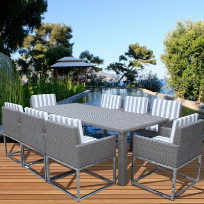 Leonore 9 Piece Dining Set with Cushions